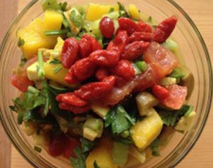 Mango Parsley Sunset Salad