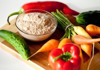 Almond Butter Vegetable Dip