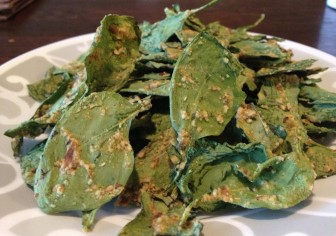 Kid Friendly Spinach Chips