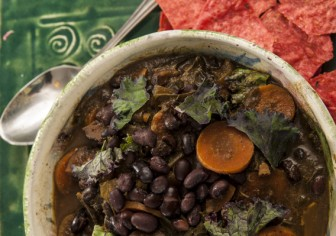Winter Black Bean Molasses Soup